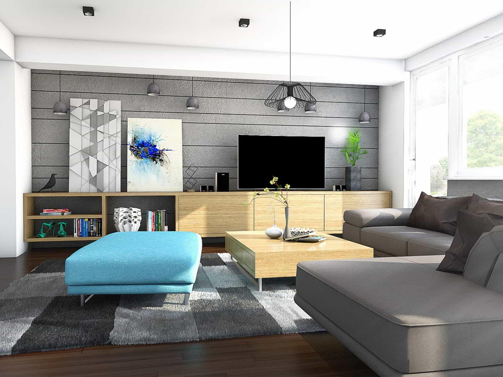 Obývačka rodinného domu